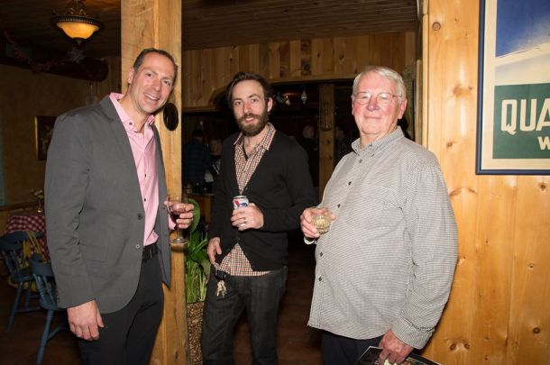 Mr. February (Ryan Hansen), Mr. September (Erik Thue), and Mr. May (Chuck Schleif) at the Dapper Dozen Launch Party!