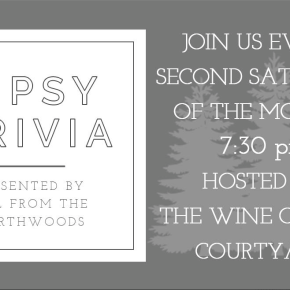 Tipsy Trivia, Presented by Girl from the Northwoods!